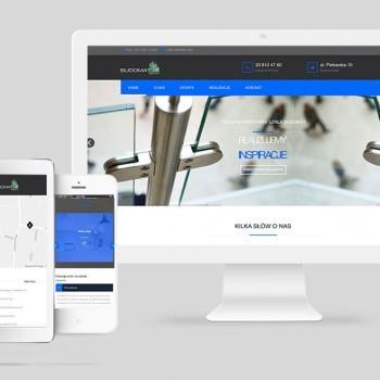 Strona internetowa dla firmy Budomat szkło