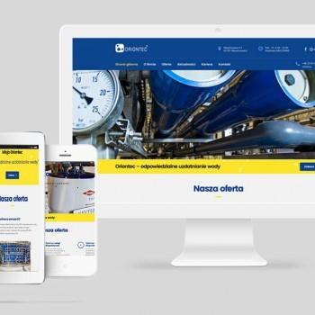 Strona internetowa dla firmy ORIONTEC