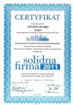 Certyfikat - Solidna firma