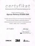 Certyfikat - Aplikacja folii samochodowych