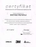 Certyfikat - oklejanie samochodów