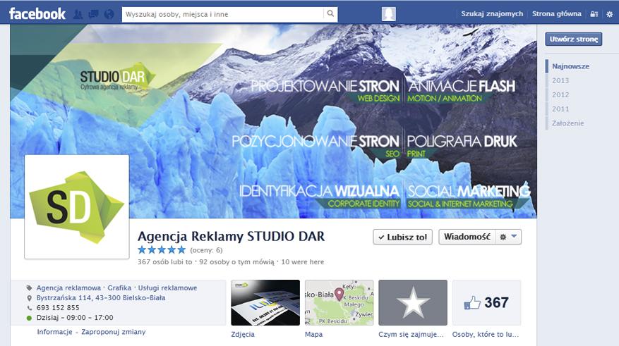 profil firmowy facebook