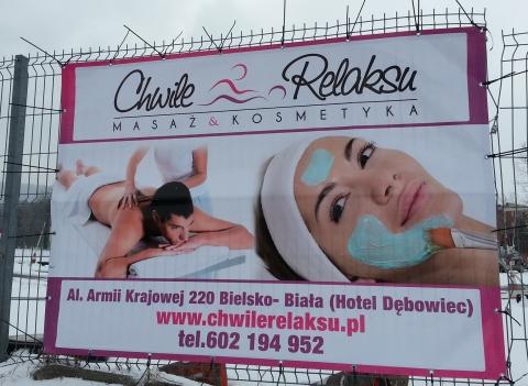 Baner reklamowy Chwile Relaksu