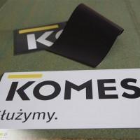 Magnesy na samochód dla Agencji ochronny KOMES