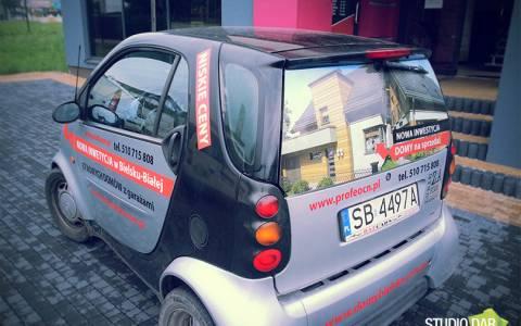 oklejanie reklamowe samochodow smart
