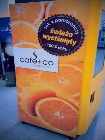 Rebranding automatów do soków