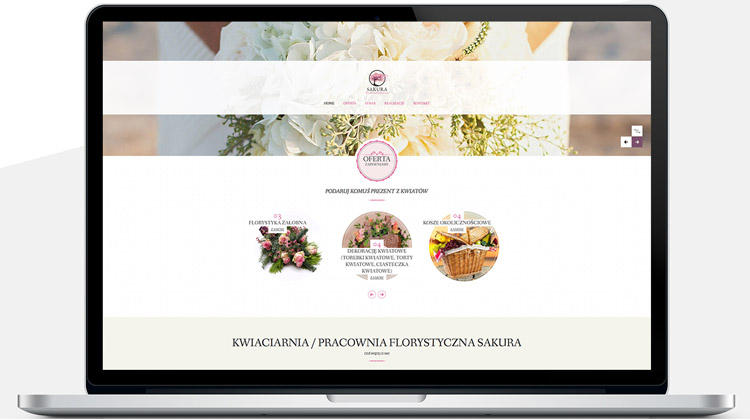 Pracownia SAKURA projekt strony internetowej