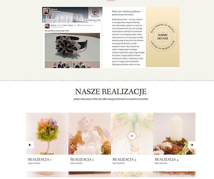 projekt strony internetowej dla kwiaciarni