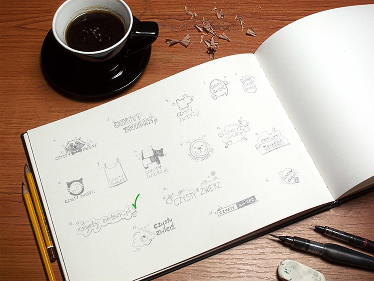 Czysty Zwierz - szkice logo