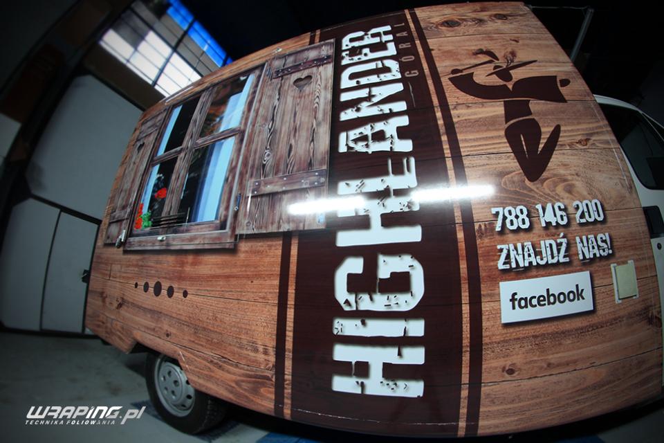 Food truck oklejanie