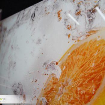 Druk na szkle – pomarańcze