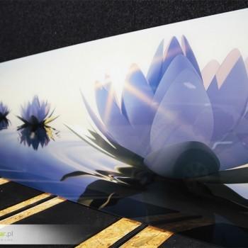 Nadruk na szkle - lilia wodna