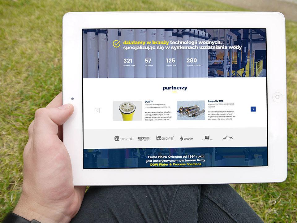 budowa strony www ORIONTEC