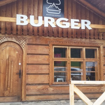 Druk na Dibond dla MOUNTAIN BURGER
