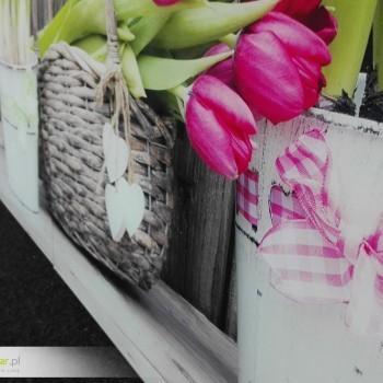 Panele szklane z nadrukiem tulipany - druk UV bezpośrednio na szkle