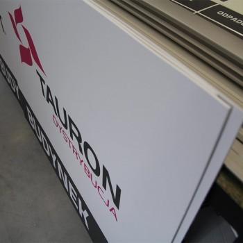 tablice informacyjne pcv tauron Tauron