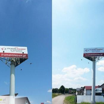 Wyklejanie billboardów z blachy