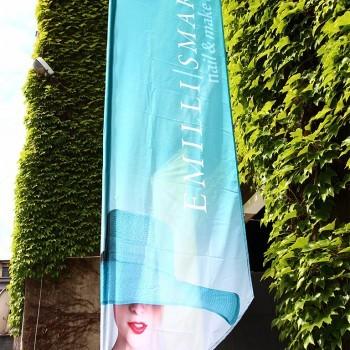 Flagi reklamowe Bielsko - Dla firmy Emilli Smart by Studio Paula