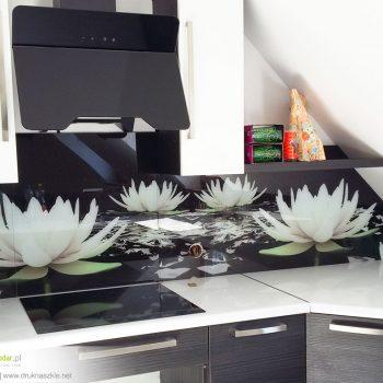 Panele szklane z nadrukiem - wzór orchidea