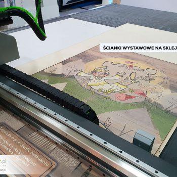 Ścianki wystawowe do Muzeum - druk sklejka i frezowanie