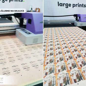 zaproszenia ślubne na sklejce 4mm - druk i frezowanie
