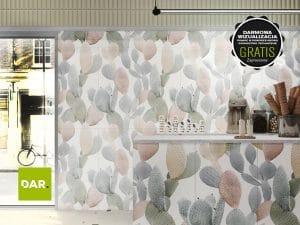 Aranżacja wnętrza - druk na ceramice z lakierowaniem