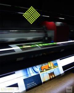 Tkaniny SAMBA  do podświetleń UV LED