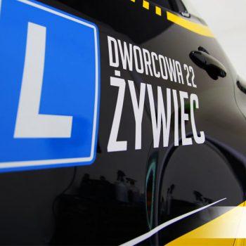 oklejanie reklamowe samochodu dla OSK Michulec